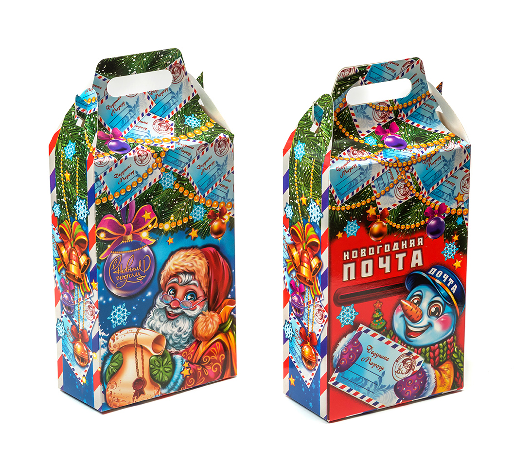 Новогодняя упаковка из текстиля для подарков 41