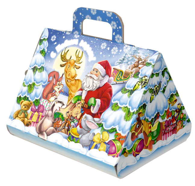 Новогодняя упаковка из текстиля для подарков 164