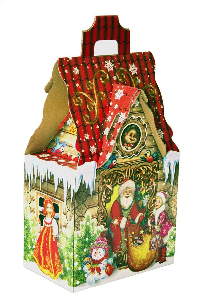 Новогодняя упаковка из текстиля для подарков 877